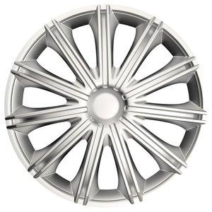 Wieldoppenset Nero zilver 18 inch | Autoshop.nl